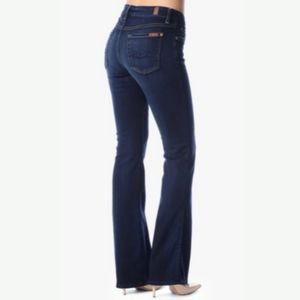 7 For All Mankind Lexie Bootcut Dark Wash 27 NWOT